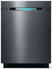 "Samsung DW80J7550U 24"" Black Stainless Fully Integrated Dishwasher NOB #7192"