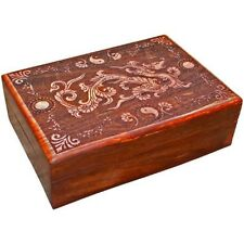 Laser Etched Dragon Trinket / Jewelry box ~Precision Laser Cut Design ~Lined ~
