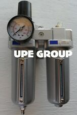 """1/2"""" HEAVY DUTY COMBO PARTICULATE FILTER REGULATOR LUBRICATOR COMPRESSED AIR"""