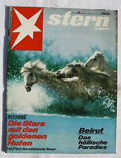STERN 1975 Nr. 28: Rennpferde / Ernst Bloch / Jimmy Connors / Beirut
