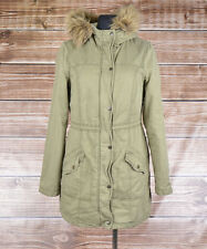 Hollister Hooded Women Parka Jacket Size L, Genuine