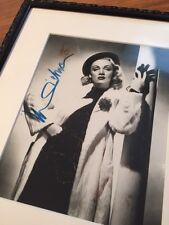 Original marlene dietrich autógrafo grande foto alta calidad enmarcado-hollywood -