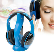 Wireless Stereo Music Headphone Headset Microphone FM for PC TV Cell phone