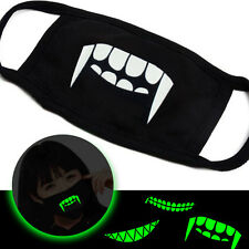 3 Pack Unisex Anti-Dust Face Masks Luminous Funny Glowing Teeth Mouth Muffles