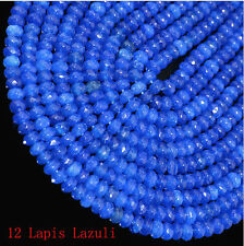 """4x6mm Faceted Lapis Lazuli Agate Roundlle Gemstone  Beads 16"""""""