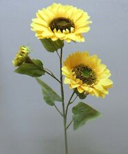 Wedding Artificial Giant Sunflower Stems 85 cm Pack 2 with 3 flower heads