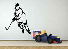 Wall Decor Art Vinyl Sticker Mural Decal Ice Hockey Game Sport Player Fan SA337