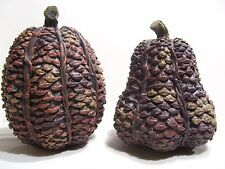 Autumn Fall Pine Cones 2 Ornaments Decorations LARGE Pine Cones Thanksgiving