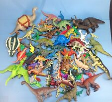Huge Lot of Dinosaur Animal Toy Figures Dinos mixed lot plastic rubber