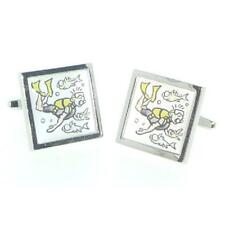 Cartoon Divers CUFFLINKS Scuba Diving Deep Sea Ocean Birthday Present