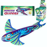 JOB LOT WHOLESALE ~ Box of 48 x MONSTER ALIEN FLYING POLY GLIDERS ~ PARTY BAGS