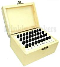 36PC 3MM METAL LETTER NUMBER STAMPS SECURITY POSTCODE PUNCH SET TOOL KIT BOX 21A