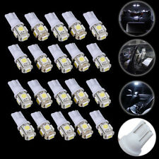 20PCS White T10 W5W 5050 5SMD LED Bulbs Car Wedge Side Light Lamp DC 12V 168 194