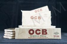 5 PACKS AUTHENTIC OCB ORGANIC HEMP KING SIZE SLIM PAPERS NATURAL UNBLEACHED