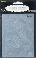 NEW Darice Snowman Universal Embossing Folder 1215-57 Horizontal Snowmen