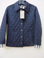 Burberry Brit womens Tilbrooke Navy heritage diamond quilted jacket Size L