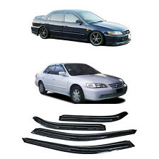 4pc Sun/Rain Guard Vent Shade Window Visors For 98-02 Honda Accord 4D/4DR Sedan
