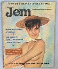 1958 Vol 2 No 5 Jem Magazine Nude Models Girly Pinup Risque