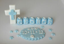 edible,cross,plaque,name,cake topper christening,decoration.