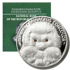Belarus 2011 20 roubles Hedgehogs 1 oz silver proof COA