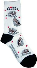 I Love My Beagle (631087) Women Socks Cotton New Gift Fun Unique Fashion