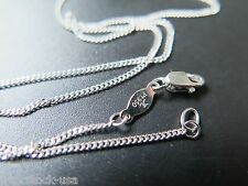 Charming 17.7INCH Platinum 950 Necklace Flat Curb Link Chain