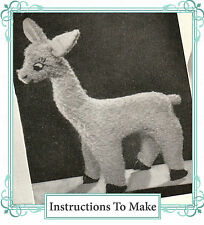 Vintage Visage 1940s wartime Llama toy sewing pattern-full size paper pieces