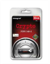 Integral 32GB Crypto FIPS 140-2 SECURE USB Stick for Windows - Protect Your Data