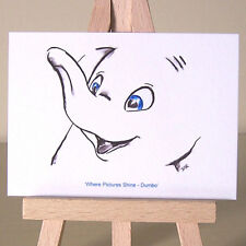 Art Deco Baby Dumbo Where Pictures Shine WDCC drawing ACEO card