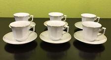6 ESPRESSO COFFEE CUPS SAUCERS ALPINE CUISINE FINE PORCELAIN Gold DESIGN GERMANY