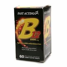 Fast Acting B12 2500 mcg Tablets Cherry Flavor 60 ea