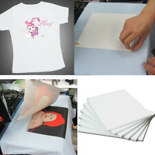 10XHeat Transfer Paper Light T-Shirt Cloth Inkjet-Printer Iron On Heat 21*29.7cm