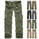 Fashion Cool New Casual Mens Military Combat Work Army Cargo Camo Trousers Pants