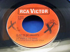 THE MAMA'S & THE PAPA'S - Glad To Be Unhappy / Hey Girl - VG+ 1967 RCA CANADA