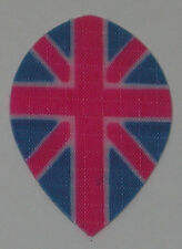 1 Set (3 Flights) Nylon  - UNION JACK    ENGLAND Pear Dart Flights 1440