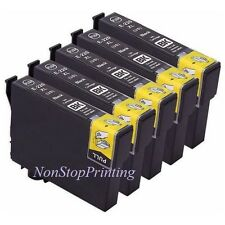 5PK Hi-Yield BK Ink For Epson 220 220XL Expression XP320 XP420 XP424 WF2650 2660