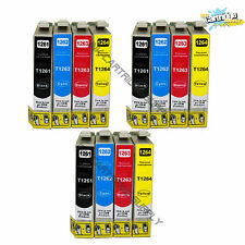 12 Pack New T126 High yield Ink for Epson Stylus NX330 NX430 WF435/545/630