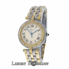 Lady's Cartier Panthere Vendome Cougar 3 Row 18K Gold 30mm Quartz Watch