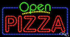 """NEW """"OPEN PIZZA"""" 32x17 SOLID/ANIMATED LED SIGN W/CUSTOM OPTIONS 25436"""