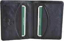 VISCONTI Small Soft Black Slim Bifold Real Leather Wallet - Gift Boxed - HT6