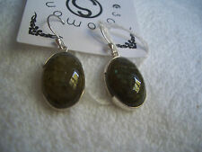925 sterling silver earrings with labradorite!!!