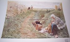 1911 OUR DAILY BREAD by Anders Zorn Color Print From Water Color Painting