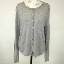 Philosophy by Dane Lewis 2-Ply 100% Cashmere Soft Warm Gray Cardigan Sweater XL