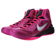 $140 Mens NIKE 2014 HYPERDUNK Basketball Shoes 653640 606 PINK BLACK sz 13