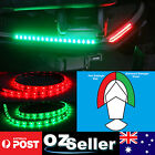 40CM 12V LED BI-COLOUR BOW LIGHT BOAT RED PORT / GREEN STARBOARD NAVIGATION LAMP