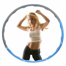 NEW HULA HOOP FITNESS EXERCISE ABS WORKOUT GYM PROFESSIONAL WEIGHTED BLUE & GREY