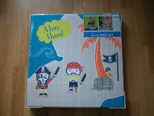 NEXT PIRATE AHOY CANVAS CANVASES PICTURES WALLART X 2 BOYS goes bedset curtains