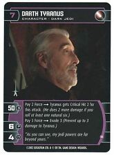 Star Wars TCG Rare Unleashed Promo Card Dooku Tyranus B