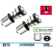 2 Ampoules 21 smd BAY15D P21/5W 1157 ANTI ERREUR ODB Arriere Frein BRAKE Rouge