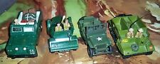 Britains Deetail British Scout Car, Land Rover, Dinky Troop Carrier, US Jeep